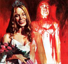 Italian poster for Carrie Best Horror Movies, Classic Horror Movies, Horror Films, Scary Movies, Carrie Movie, Carrie White, Italian Posters, Horror Artwork, Vintage Horror