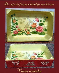 De caja de fresas a bandeja multiusos