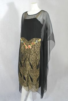 1920s clothing at Vintage Textile:  evening dress