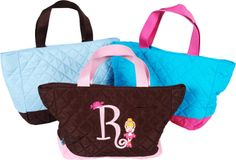 Small Quilted Tote Bag | Embroidered Small Tote Bag | Personalized Small Tote Bag