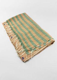 In Indien von Hand gewebter Baumwollschal. Das Tuch ist ein Einzelstück und wunderbar weich und Zart. Blanket, Indian, Weaving, Cotton, Blankets, Cover, Comforters
