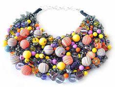 kama4you 2456 crochet bib necklace