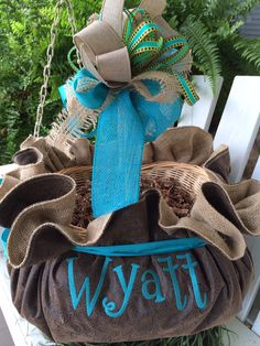 Sterlings basket is ready for his easter goodies custom totally adorable for that young man in your life this faux leather look is a yearlyyoung maneaster basketsyour negle Gallery