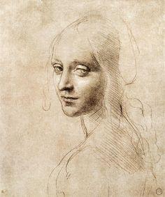 Leonardo da Vinci-Head of a woman #TuscanyAgriturismoGiratola