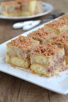 Gesztenyés pudingkocka - Kifőztük, online gasztromagazin Hungarian Desserts, My Recipes, Cooking Recipes, Pastry Cake, No Bake Treats, French Toast, Muffin, Goodies, My Favorite Things