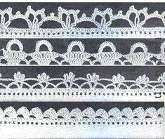 Crochet Edging Patterns, Crochet Lace Edging, Crochet Borders, Crochet Edgings, Cotton Crochet, Pdf Patterns, Crochet Stitches, Crocheted Lace, Crochet Books