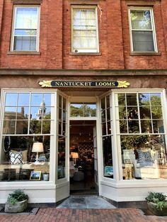 Quintessence -main street Nantucket Island-one of the many shops lining the cobblestone street w/brick side walks.