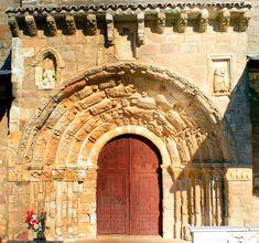 Portada románica de Santa Maria del Rey, (Atienza,Guadalajara)