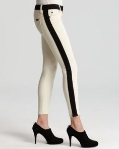 Hudson LeeLoo black and white jeans