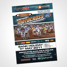 A5 poster design for the 2011 Maxxis British Motocross Championship