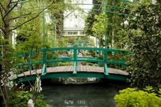The Japanese footbridge from Claude Monet's garden in Giverny, France, has been recreated inside the New York Botanical Garden's Bronx conservatory.