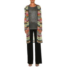 d7c1f3ebedb Missoni Zigzag Knit Open-Front Long Cardigan ( 1
