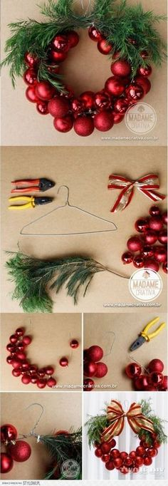 Happy New Year 2019 : Bo?e Narodzenie na Stylowi.pl Mehr (Diy Christmas Wreath) The post Happy New Year 2019 : Bo?e Narodzenie na Stylowi.pl Mehr (Diy Christmas Wreath) & appeared first on Dekoration. Noel Christmas, Simple Christmas, Winter Christmas, Christmas Ornaments, Funny Christmas, Ornaments Ideas, Beautiful Christmas, Garland Ideas, Christmas Clothes