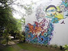 Amazing Graffiti on the pousada wall in Morro de Sao Paulo, Bahia #Brazil  #ViventuraPinYourWaytoSouthAmerica