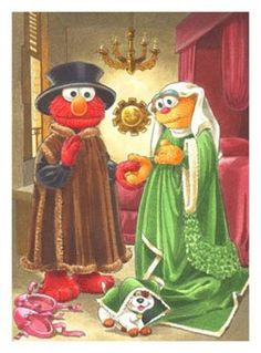 "Parody of the ""Arnolfini Wedding Portrait"""
