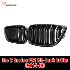 Carbon fiber M2 look front bumper grille grille mesh grid for bmw 2 series f22 2014 15 16 model 220i 228i