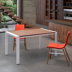 Oslo Extension Table Walnut   White   Modern Digs Furniture