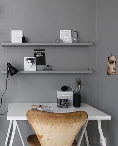 Workspace in grey - via Coco Lapine Design