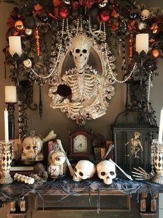 Adornos Halloween, Outdoor Halloween, Diy Halloween Decorations, Halloween Themes, Halloween Crafts, Samhain Decorations, Halloween Table Centerpieces, Haunted House Decorations, Spooky Decor
