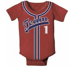 Personalized Baseball Jersey Onesie, Baby Boy MLB, College, HS Jersey, Custom Any Team