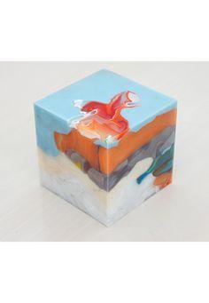 #182    Mini-Cube 12-2-4, PSR, 10×10×10cm, 2012    By Matthias Vanarkel    via Art & Code
