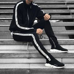 Double striped Track Pants x Track Jackets 40 colors available. Choose your best outfits from @urkoolwear. High quality best style and best price. order at www.urkoolwear.com worldwide shipping. Low Shipping fee.