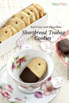 How to make Earl Grey and Chocolate #Shortbread #Teabag #Cookies, the perfect treat for your next tea party.
