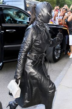 Kim Kardashian Kim Kardashian, Dominatrix, Leather Pants, Nyc, Clothes, Exploring, Dress, Fashion, Funny Animals
