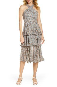 Floral Chiffon Dress, Peplum Dress, 50s Dresses, Casual Dresses, Figure Flattering Dresses, Tiered Dress, Nordstrom Dresses, Designer Dresses, Cute Outfits