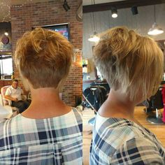 Hair design by Paul Funky Short Hair, Short Hair With Layers, Short Hair Cuts For Women, Short Hair Styles, Short Stacked Haircuts, Short Bob Hairstyles, Short Haircut, Men's Hairstyles, Formal Hairstyles