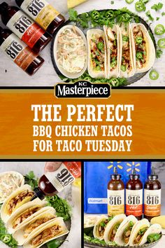 Kick your Taco Tuesday up a notch with this recipe for BBQ Chicken Tacos—made . Kick your Ta Best Soup Recipes, Easy Dinner Recipes, Chicken Recipes, Favorite Recipes, Tailgating Recipes, Barbecue Recipes, Grilling Recipes, Outdoor Cooking Recipes, Easy Bbq Chicken