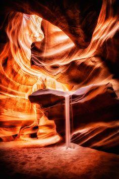 Antelope canyon, Arizona, USA. By Geoffrey Gilson.  Beautiful. The color!!!!