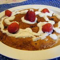 Torta Dukan di fragole e panna