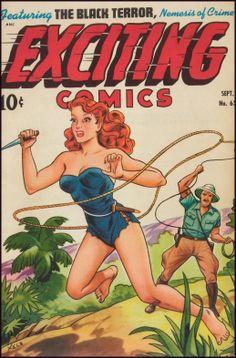 "Exciting Comics - Alex ""XELA"" Schomberg cover"