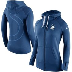 Women s Indianapolis Colts Nike Royal Blue Warpspeed All Time Full-Zip Performance  Hoodie 2ead8b291