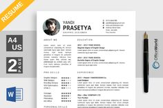 Elegance Resume / CV Ms Word @creativework247