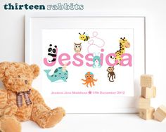 Craft Letters, Name Letters, Letter A Crafts, Childrens Wall Art, Kids Bedroom, Cute Kids, Playroom, Teddy Bear, Nursery