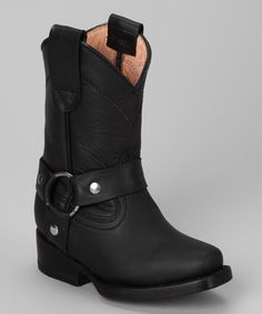 Look what I found on #zulily! Black Buckle Boot - Kids by Bonanza Boots #zulilyfinds