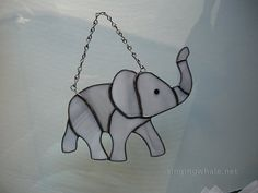 Stained Glass Elephant by singingwhale on Etsy