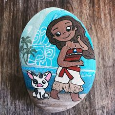 Moana/Polynesian Princess/ Hand Painted Rock/artistic rendition by RocksNest on Etsy https://www.etsy.com/listing/505909314/moanapolynesian-princess-hand-painted