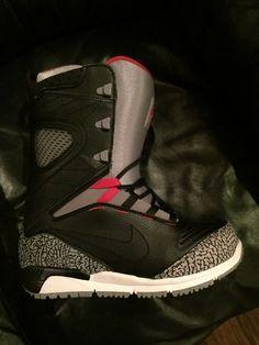 cbfbc0bf9ae Nike Air Kaiju Snowboarding BOOTS Black Elephant Jordan Cement for sale  online