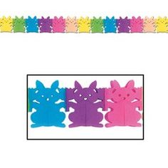 Bunny Garland Party Accessory 1 count 1Pkg -- You can find out more details at the link of the image.