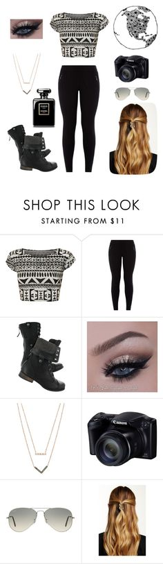 """""""Peace in life"""" by keelhuds ❤ liked on Polyvore featuring WearAll, New Look, Michael Kors, Ray-Ban and Natasha Accessories"""