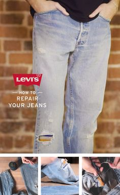 Wear and tear just adds character. Learn how to repair your own jeans, for fashion or function, from our Levi's Master Tailors. Watch the How To video.