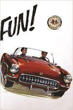 trade catalog image of the 1957 CHEVROLET CORVETTE vintage car poster 24X36
