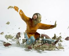 I came across Martin Klimas photography and was immediately drawn to his series of shattering statues.