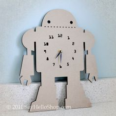 Oh man, maybe THIS will be the splurge for the new robot bedroom.  It only costs $25 (and $9 to ship), not too bad, AND you can paint it any color to match your room.  LOVE!