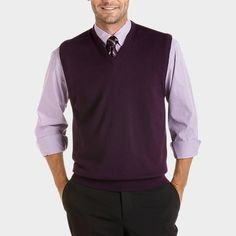 Buy a Pronto Uomo Purple Merino Vest Sweater and other Sweater Vests at Men's Wearhouse. Browse the latest styles, brands and selection in men's clothing.
