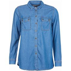 Women's Barbour Ashby Shirt - Mid Chambray (120 AUD) ❤ liked on Polyvore featuring barbour