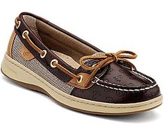 Sperry #1 (not addicted or anything)   Angelfish Slip-On Boat Shoe, Cordovan Embossed Anchors